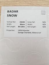 "89mm (3.5"") VERTICAL BLIND FABRIC. FULL ROLL. 100M. BADAR SNOW"
