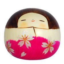 "Japanese 2.25""H Kokeshi Wooden Doll Hanayama Sakura Handcrafted Made in Japan"