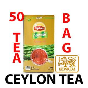 Premium Quality Ceylon Organic Lipton BOPF 50 Tea Bag From Srilanka