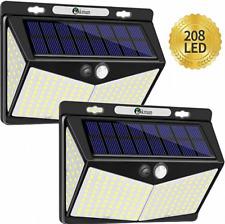 208 LED Solar Powered Sensor Waterproof Wall Light Outdoor Garden Security Lamp