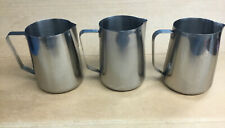 "(3) 18-10 Stainless Steel 78 oz Water Serving Pitchers Restaurant Quality 7""T"