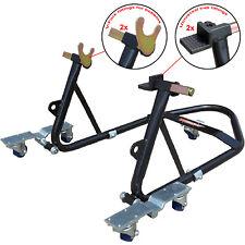 Tech7 Motorcycle Motorbike Garage / Workshop Paddock Stand Lift Bike Easy Mover