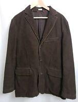 J Crew Vintage Cord Dark Brown Corduroy Sport Coat Blazer Jacket sz LARGE Men's