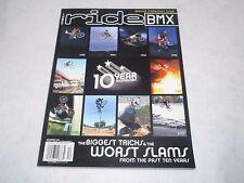 NOS ORIGINAL BMX RIDE MAGAZINE 10 YR ANNIVERSARY DEC 2002 VOL 11 ISSUE 12  NO 79