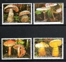 Champignons Guyane (16) série complète de 4 timbres oblitérés