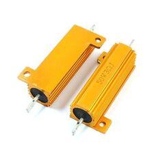 New  Lug Terminal Gold Tone Axial Heatsink Aluminum Resistor 50W watt 3 Ohm 5%