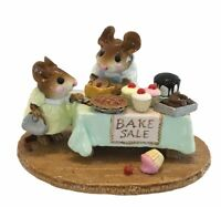 Wee Forest Folk MOUSEY'S BAKE SALE, M-220, GREEN Tablecloth, Retired