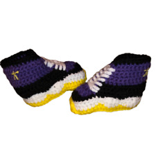 Kobe Crochet Shoes Sneakers J-Basketball Air Girl Boy Purple Yellow
