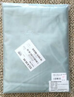 The Company Store Sterling Green Blue 500 TC Full Size Flat Sheet E1I4 Cotton