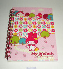 "VERY CUTE! 2002 Sanrio MY MELODY ""In the Flower Patch"" Notebk from JAPAN! NEW!"