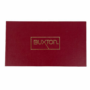 Vintage Buxton Maroon Ensemble Clutch Model 39 Organizer Wallet Burgundy NWT