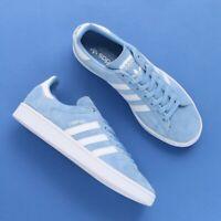 Adidas Mens Originals Campus Sneakers Blue DB0983 Walking Low Top Retro Size 12