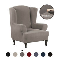 All-inclusive Thick Stretch Wing Chair Cover Slipcover Wingback Armchair Cover