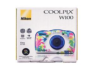 Nikon COOLPIX W100MR Waterproof Digital Camera Marine ver. Full HD from JPN DHL