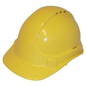 UniSafe TYPE-1 ABS SAFETY HELMET Crown Cooling Vents YELLOW *Australian Made