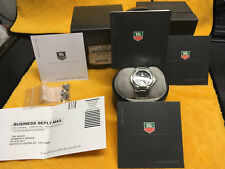 "BLACK TAG HEUER AUTOMATIC KIRIUM ""CHRONOMETER"" WITH BOX/PAPERS  WL5111 AUTHENTIC"