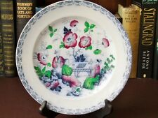 19th c Ironstone Cabinet Plate - Chinoiserie Style Scholars Playing Chequers