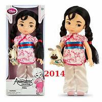 Disney Store Princess Animators Collection Mulan Doll 16 in Plush Pet NEW 2014