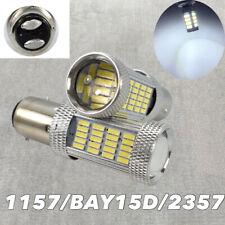 Brake Stop Light 1157 2057 2357 2397 3496 7528 92 BAY15D White LED Bulb W1 GM JA