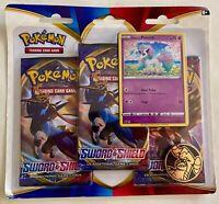 3 Pokemon TCG Pack Blister: Sword & Shield (2020) Ponyta Promo & 3 Boosters