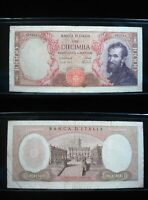 ITALY 10000 LIRE 1962 P97 SHARP 61# CURRENCY BANK BANKNOTE MONEY