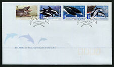 2009 WWF Dolphins Coastline FDC First Day Cover Stamps Australia
