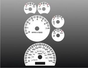 2002-2005 Chevrolet Trailblazer Dash Cluster White Face Gauges 02-05