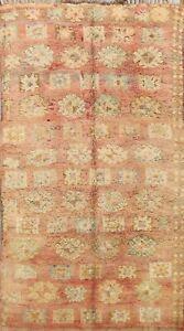 Antique Authentic Moroccan Berber Oriental Area Rug Vegetable Dye Handmade 6x9