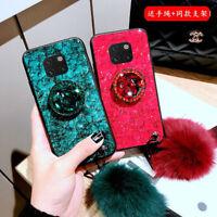Bling for Huawei Mate 40 30 20 P40 Pro Epoxy Foil Diamond Holder Case Ball Strap