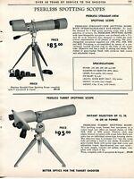 1962 Print Ad of Peerless Straight-View & Turret Spotting Scope