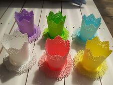 Great Easter Gift! Home Decor plastic flower pots with plates (12 pieces)