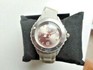 LADIES GREY SILICONE ICE WATCH
