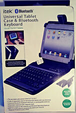 """ITEX UNIVERSAL TABLET CASE & BLUETOOTH KEYBOARD FITS ALL 7"""" TO 10.1"""" TABLETS NEW"""