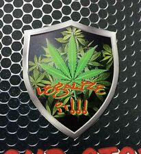 "Legalize It Medical Marijuana Shield Domed Decal Emblem Car Sticker 3D 2.3""x 3"""