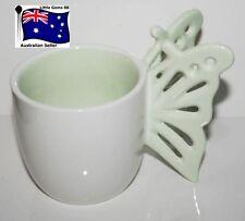 Yankee Candle Tealight Holder Ceramic Green Butterfly Enchanted Garden