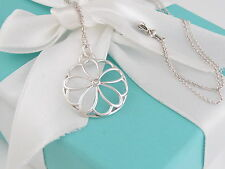Tiffany & Co Silver Flower Garden Diamond Necklace Box Included