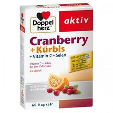 DOPPELHERZ Cranberry+Kürbis Kapseln 60 St PZN 7625074