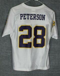 PETERSON #28 MINNESOTA VIKINGS AMERICAN FOOTBALL JERSEY WOMENS SMALL NFL RARE