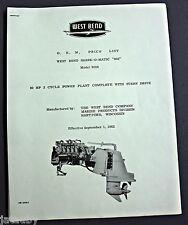 O.E.M. PRICE LIST WEST BEND SHARK-O-MATIC Model 8024 Flyer Manual Brochure