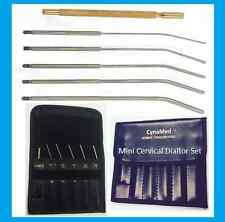 Mini Cervical Dilators Kit of 5 Interchangable Handle 1,1.5,2,2.5-3mm German SS