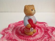 """Lucy & Me Bear Has """"Red Heart Candy Says( For My Love )On Box Lucy Rigg Enesco"""