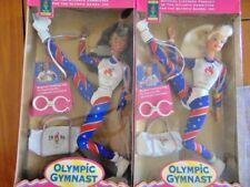 2 Olympic Gymnast African American Aa Caucasian Barbie Doll 1996 Atlanta Games