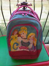 Zaino Trolley Scuola Seven Disney Princess - Azzurro