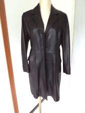Manteau cuir d'agneau Alberto Bini 44 genuine leather coat XL XXL