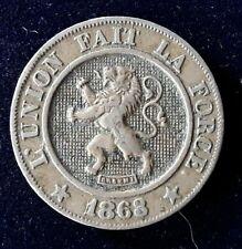 BELGIQUE 10 Centimes lion 1863