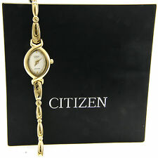 Cute Japanese Citizen 1012-S046390HSB Woman's Gold Tone Stainless Steel Watch