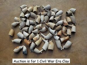 Old Rare Vintage Antique Relic Civil War Era Beautiful Clay Pipe Bowl