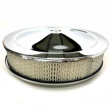 """Bandit Air Cleaner Assembly 8000K; Muscle Car Chrome Steel Round 14"""" x 3"""""""
