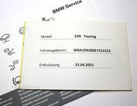 Original BMW Serviceheft + Aufkleber E F 1er 3er 5er 6er 7er X1 X3 X5 X6 E72 Z4