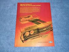 """1969 Mercury Cyclone CJ Vintage Ad """"What Do You Want On Your Red Hot?"""